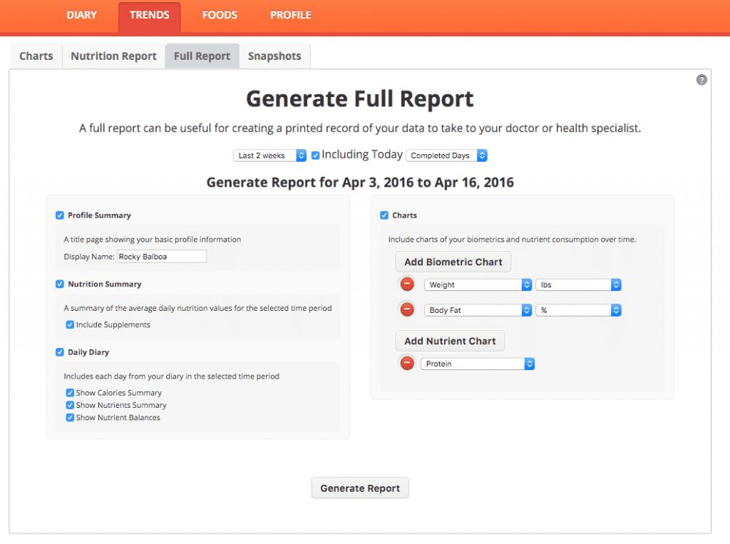 Full Report Generator