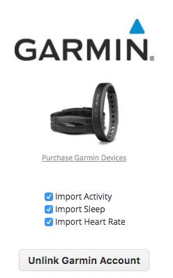 Link to Garmin